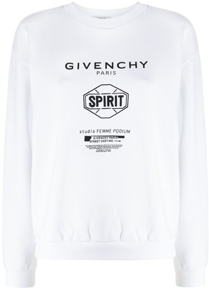 Givenchy Spirit print crew neck sweatshirt