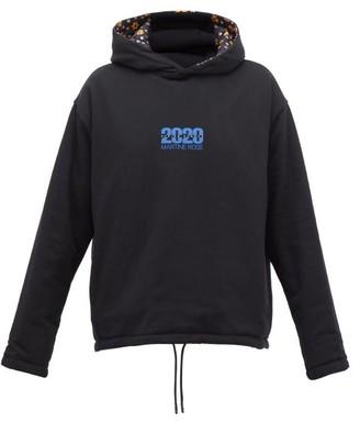 Martine Rose Reversible Floral-print Hooded Sweatshirt - Black Multi