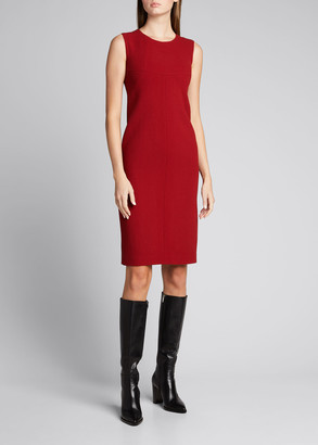 Kiton Sheath Sleeveless Wool Dress