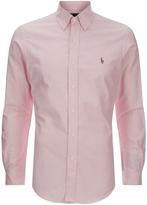 Polo Ralph Lauren Slim Fit Button Down Stretch Oxford Shirt Pink