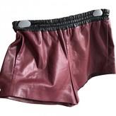 Prada Burgundy Exotic leathers Shorts