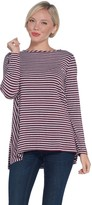 Lisa Rinna Collection Long Sleeve Striped Knit Top