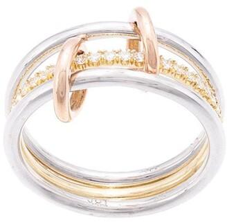 Spinelli Kilcollin 18kt rose gold Four Link Luna Rose diamond ring