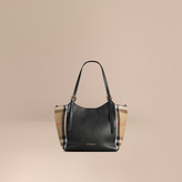 Burberry The Small Canter in Leather and House Check