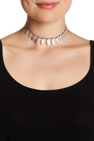 Stephan & Co Hammered Leaf Charm Choker