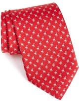Salvatore Ferragamo Men's Bird Print Silk Tie