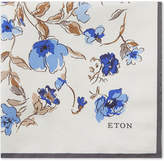 Eton Floral Print Silk Pocket Square
