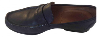 Burberry Blue Leather Flats