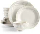 Lenox French Perle Groove White 12-Piece Dinnerware Set, a Macy's Exclusive Style