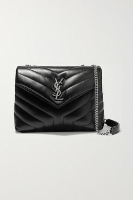 Saint Laurent Loulou Small Quilted Leather Shoulder Bag - Black
