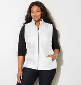 Avenue Chevron Quilted Side Knit Vest