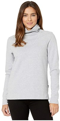 The North Face Hayes Funnel Neck Top (TNF Light Grey Heather) Women's Long Sleeve Pullover