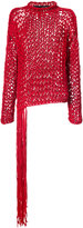 Isabel Benenato fringed knitted sweater