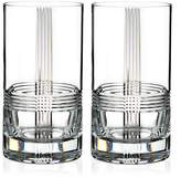 Rogaska Fan Club Highball Glass, Set of 2