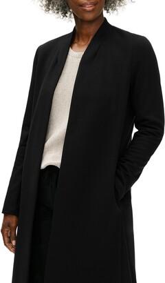 Eileen Fisher Flex Ponte Knit Long Jacket