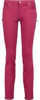 Versace Embellished Low-Rise Slim-Leg Jeans