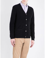 Polo Ralph Lauren Fine-knit cashmere and wool-blend cardigan