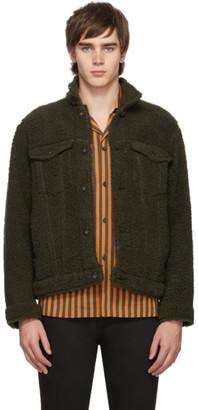 Naked & Famous Denim Denim Denim Green Fleece Jacket