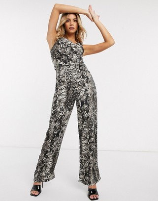 AX Paris cowl front jumpsuit in snake