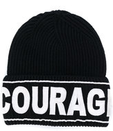 Versace Courage embroidered beanie hat
