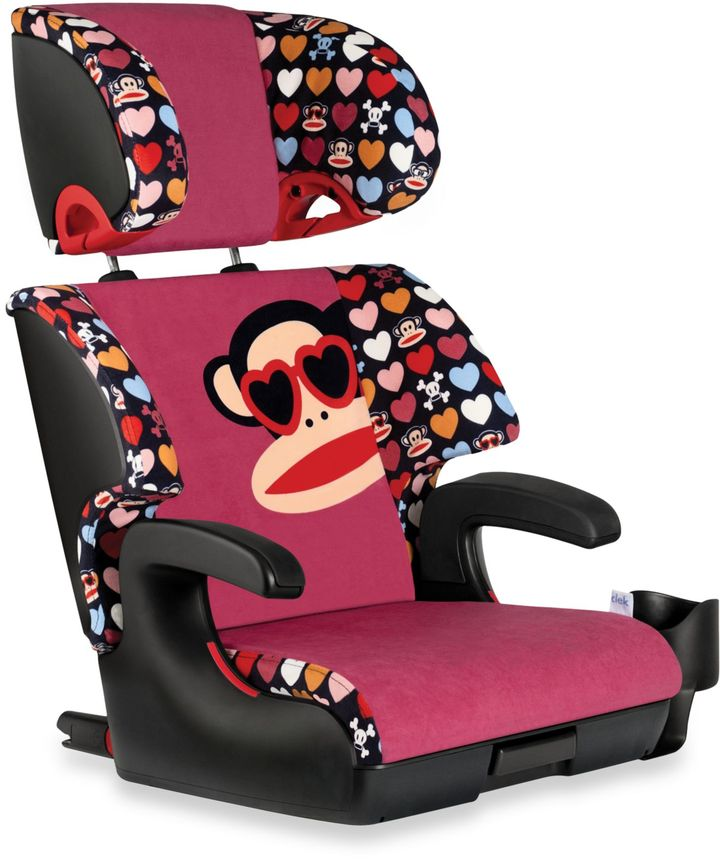Clek OobrTM Full Back Booster Car Seat in Paul Frank Julius Heart Shades
