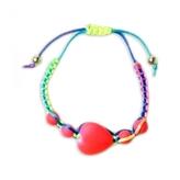 LittleMissMatched Pink Heart Adjustable Bracelet