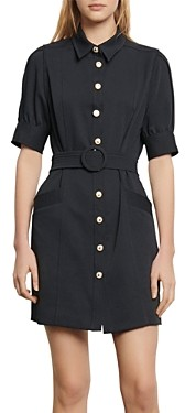 Sandro Joody Belted Mini Dress