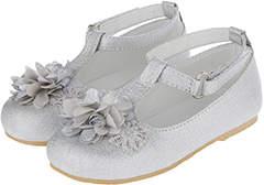 Monsoon Pamela Flower Pom Pom Walker Shoes