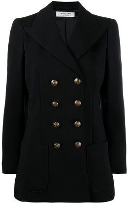 Philosophy di Lorenzo Serafini Embossed-Button Double-Breasted Ponte Blazer