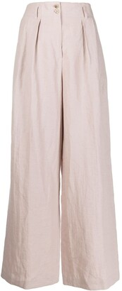 Paul Smith High-Waisted Wide-Leg Trousers