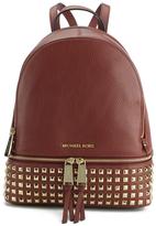 MICHAEL Michael Kors Women's Rhea Zip Mid Stud Backpack Brick