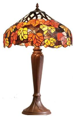 Camilla And Marc Loxton Lighting 40 cm Leaf Table Lamp, Red/ Orange