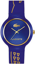 Lacoste Goa Crocodile Silicone Strap Watch