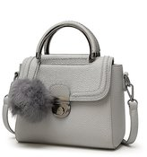 Mn&Sue Vintage Pebbled Pattern PU Leather Small Satchel Purse Flap Over Cross Body Shoulder Messenger Bag
