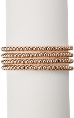 Eye Candy La The Luxe 4-Piece Rosegold-Plated Stretch Bracelet Set