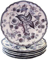 One Kings Lane Vintage Antique Mulberry Dinner Plates - Set of 6
