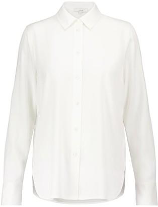 Vince Stretch-silk satin shirt