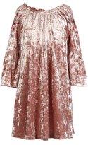 My Michelle Big Girls 7-16 Flutter-Sleeve Velvet Dress