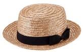 San Diego Hat Company Women's Wheat Straw Boater Hat.