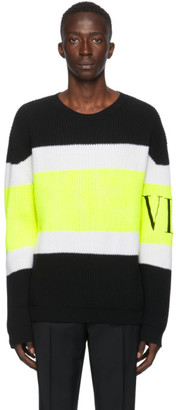 Valentino Multicolor Wool Rib VLTN Sweater