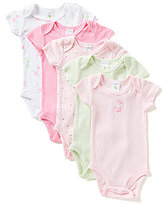 Starting Out Baby Girls Newborn-6 Months 5-Pack Giraffe Motif Bodysuits