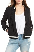 Blank NYC Women's Blanknyc Eyelet Bomber Jacket