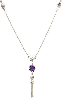 Artisan Crafted Sterling Gemstone Tassel Necklace