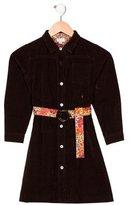 Papo d'Anjo Girls' Corduroy Belted Dress