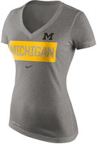 Nike Women's Michigan Wolverines Dri Blend Tailgate V-Neck T-Shirt