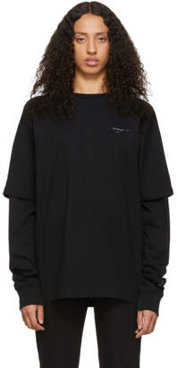 Off-White Off White Black Unfinished Diag Backbone T-Shirt