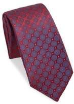 Kiton Medallion-Embroidered Silk Tie
