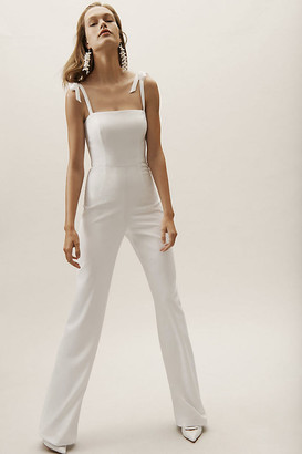 Anthropologie Trinity Jumpsuit By in White Size 0
