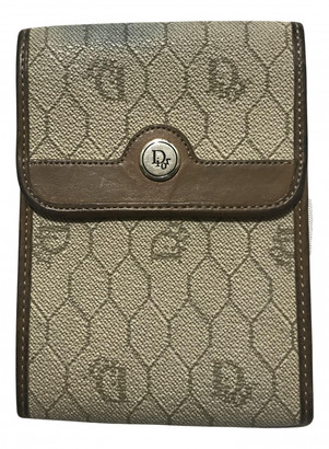 Christian Dior Beige Leather Small bags, wallets & cases