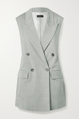Joseph Zappa Double-breasted Stretch-wool Vest - Gray